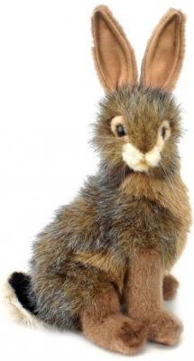 Мягкая игрушка заяц Hansa Чернохвостый заяц искусственный мех синтепон серый коричневый черный 23 см 3754 мягкие игрушки hansa чернохвостый заяц 23 см