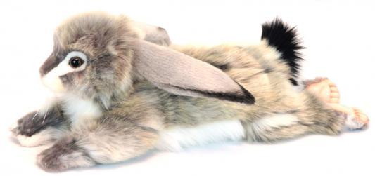 Мягкая игрушка заяц Hansa Заяц вислоухий серый пластик текстиль искусственный мех синтепон серый 40 см 6522 мягкая игрушка собака hansa собака породы чихуахуа искусственный мех синтепон коричневый белый 31 см 6501