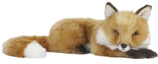 Мягкая игрушка лисица Hansa Лисица текстиль искусственный мех пластик рыжий 53 см 6990 мягкие игрушки hansa лисица белая стоящая 40 см
