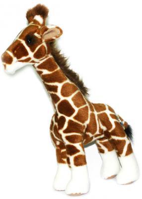 Мягкая игрушка жираф Hansa Жираф пластик искусственный мех синтепон разноцветный 38 см 1671 цена
