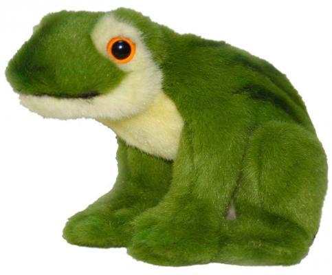 Мягкая игрушка лягушонок Hansa Зеленая лягушка искусственный мех синтепон пластик зеленый 16 см 1752