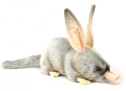 Мягкая игрушка кролик Hansa Билби синтепон искусственный мех серый 35 см 2780