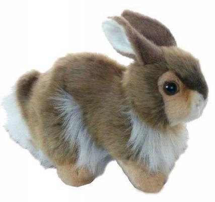Мягкая игрушка кролик Hansa Кролик пластик искусственный мех синтепон разноцветный 23 см 2796