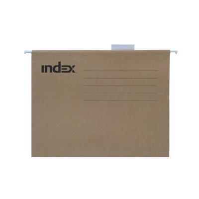 Подвесная папка INDEX, ф. А4, крафт-картон, с табулятором ISF03/A4/KR папка с резинкой 40 мм a4 полупрозрачная sb40tw 00