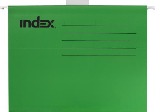 Подвесная папка INDEX, ф. А4, зелёная, с табулятором ISF01/A4/GN папка с резинкой 40 мм a4 полупрозрачная sb40tw 00