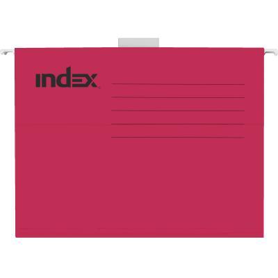 Подвесная папка INDEX, ф. А4, красная, с табулятором ISF01/A4/RD папка с резинкой 40 мм a4 полупрозрачная sb40tw 00