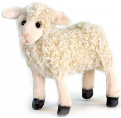 Мягкая игрушка ягненок Hansa Ягненок искусственный мех белый 28 см 4567