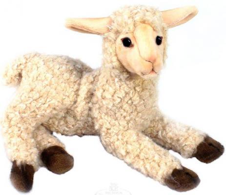 Мягкая игрушка ягненок Hansa Ягненок искусственный мех белый 33 см 4567