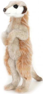 Мягкая игрушка сурикат Hansa Сурикат искусственный мех синтепон коричневый белый 33 см 5326