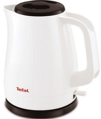 Чайник Tefal KO150130 2200 Вт белый чёрный 1.5 л пластик чайник tefal ko 29913e 2200 вт 1 5 л пластик белый