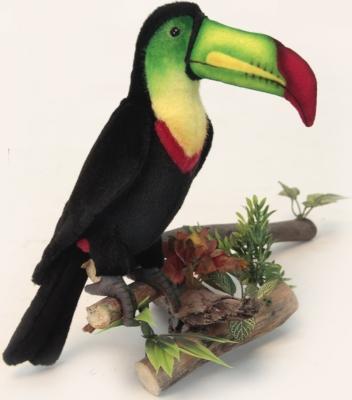 Мягкая игрушка утенок Hansa Тукан искусственный мех синтепон черный зеленый желтый красный 33 см 6408 мягкие игрушки hansa утенок 20 см