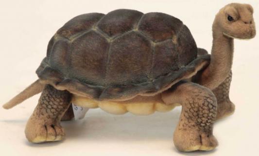 Мягкая игрушка черепаха Hansa Галапагосская черепаха искусственный мех коричневый 30 см 6461