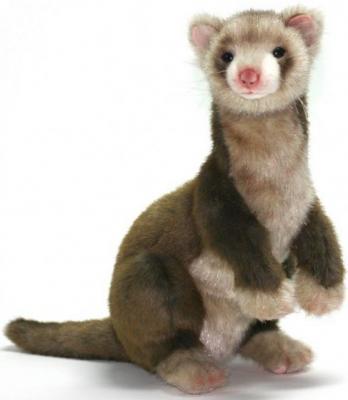 Купить Мягкая игрушка хорек Hansa Хорек коричневый искусственный мех синтепон коричневый 32 см 4556, искусственный мех, синтепон, Животные