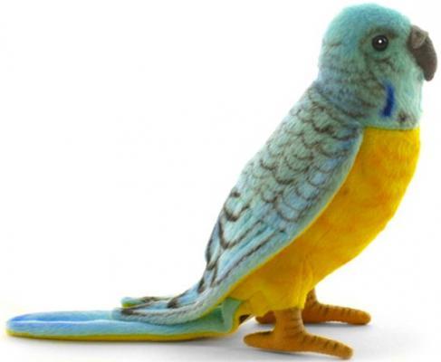 Мягкая игрушка попугай Hansa Попугай волнистый голубой искусственный мех синтепон разноцветный 15 см 4653П