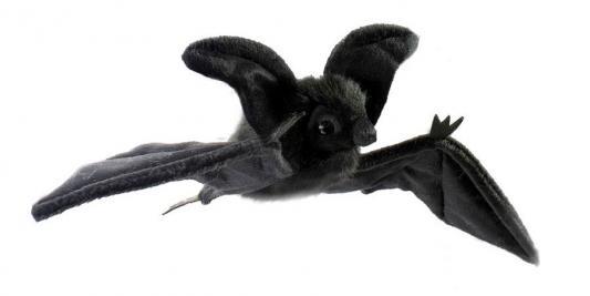 Мягкая игрушка летучая мышь Hansa Летучая мышь пластик синтепон искусственный мех черный 37 см 4793