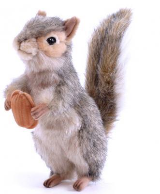 Мягкая игрушка белка Hansa Белка стоящая искусственный мех серый 20 см 4841 мягкая игрушка белка hansa белка летяга искусственный мех серый 21 см 4116