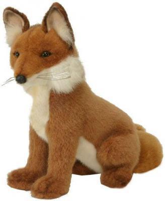 Мягкая игрушка лисица Hansa Лиса пластик текстиль искусственный мех рыжий 28 см 2923
