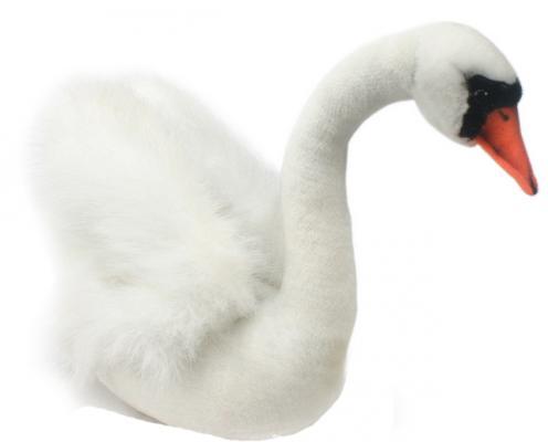 Мягкая игрушка лебедь Hansa Лебедь искусственный мех белый 32 см 2983