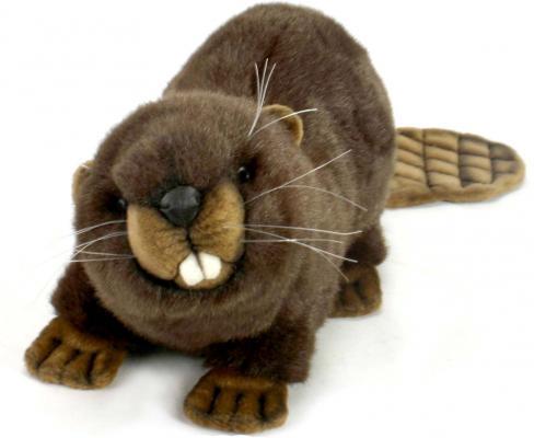 Мягкая игрушка бобер Hansa Бобёр искусственный мех коричневый 32 см 3074Б hansa бобёр 32 см