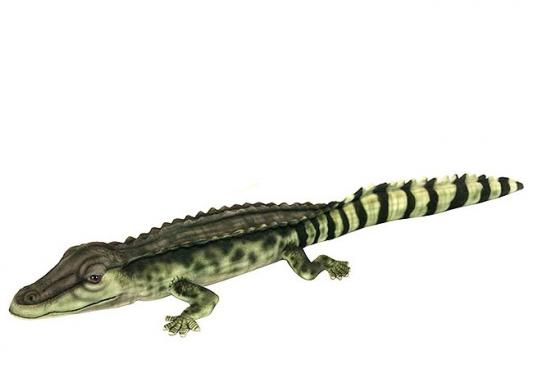 Мягкая игрушка крокодил Hansa Крокодил Филиппинский текстиль синтепон разноцветный 72 см 6572
