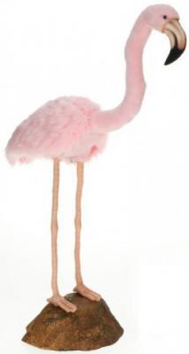 Мягкая игрушка фламинго Hansa Розовый фламинго искусственный мех синтепон розовый 80 см 6771