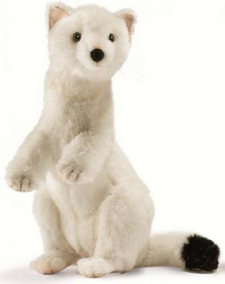 Мягкая игрушка горностай Hansa Горностай зимний окрас искусственный мех белый 30 см 4860 hansa мягкая игрушка чернохвостый заяц 30 см