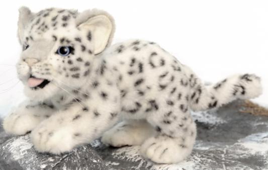 Купить Мягкая игрушка барс Hansa Детеныш снежного барса искусственный мех белый 30 см 4996, Животные
