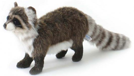 Мягкая игрушка енот Hansa Енот стоящий искусственный мех синтепон пластик разноцветный 35 см 5238 цена
