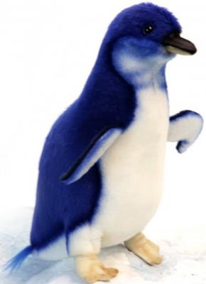 Мягкая игрушка пингвин Hansa Малый пингвин искусственный мех синтепон синий белый 20 см 6103