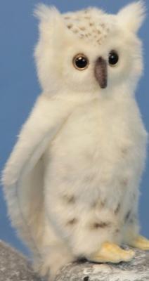 Мягкая игрушка сова Hansa Сова белая искусственный мех синтепон белый 18 см 6155 мягкая игрушка сова hansa сова выпускник искусственный мех синтепон белый 18 см 6326