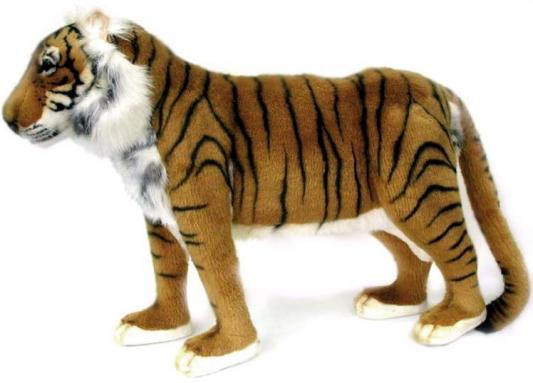 Мягкая игрушка тигр Hansa Тигр искусственный мех синтепон рыжий 60 см 3699 мягкая игрушка собака hansa собака породы чихуахуа искусственный мех синтепон коричневый белый 31 см 6501