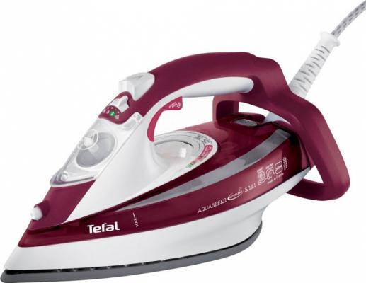 Утюг Tefal FV5535E0 2600Вт красный белый утюг tefal fv5535e0