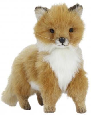 Мягкая игрушка лисица Hansa Детеныш лисицы стоящий искусственный мех рыжий 27 см 6995
