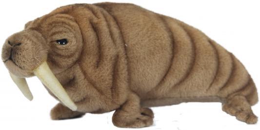 Мягкая игрушка морж Hansa Морж искусственный мех синтепон коричневый 26 см 7025