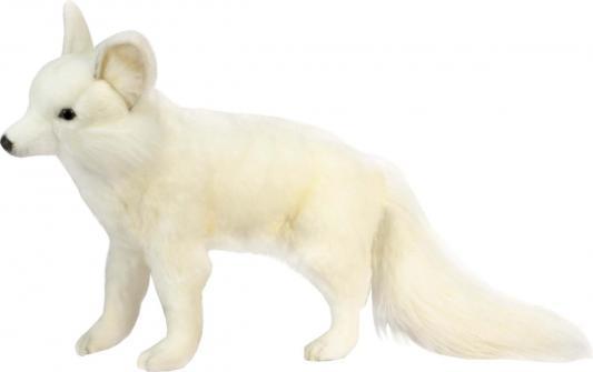 Мягкая игрушка лисица Hansa лисица пластик текстиль искусственный мех белый 40 см 4698