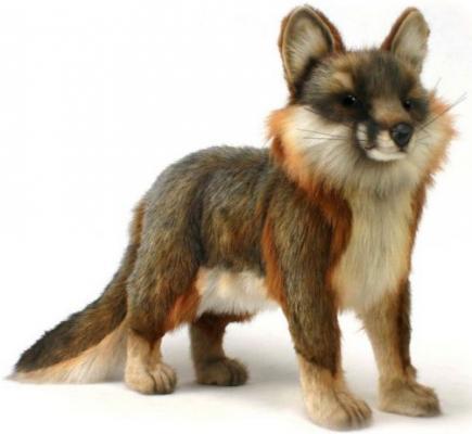 Мягкая игрушка лисица Hansa Серая лисица стоящая искусственный мех синтепон разноцветный 40 см 4700Л
