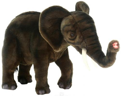 Мягкая игрушка слоненок Hansa Слоненок синтепон искусственный мех коричневый 42 см 4955 мягкая игрушка собака hansa собака породы чихуахуа искусственный мех синтепон коричневый белый 31 см 6501