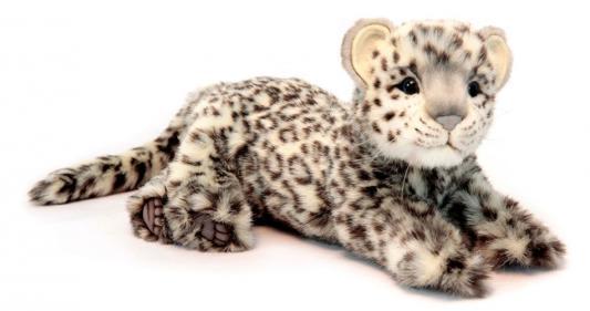Мягкая игрушка леопард Hansa Леопард искусственный мех синтепон пластик белый черный 56 см 6306
