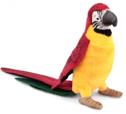 Мягкая игрушка птица Hansa Желтый попугай искусственный мех синтепон пластик разноцветный 37 см 3323