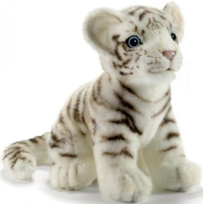 Мягкая игрушка тигр Hansa Тигренок белый искусственный мех синтепон белый 18 см 3420 мягкая игрушка собака hansa собака породы бишон фризе искусственный мех белый 30 см 6317