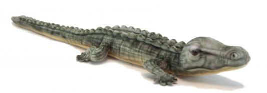 Мягкая игрушка крокодил Hansa Крокодил гребнистый пластик искусственный мех синтепон разноцветный 70 см 6475 мягкая игрушка собака hansa собака породы чихуахуа искусственный мех синтепон коричневый белый 31 см 6501