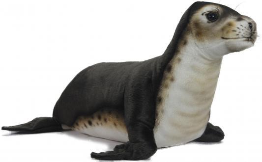 Мягкая игрушка тюлень Hansa Тюлень-монах искусственный мех синтепон черный белый 65 см 6791