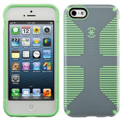 Чехол Speck CandyShell Grip для iPhone 5 iPhone 5S iPhone SE серый зеленый 71100-B753