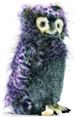Мягкая игрушка филин Hansa Филин искусственный мех синтепон серый фиолетовый 35 см 3678