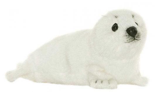 Мягкая игрушка белёк Hansa Белек искусственный мех белый 29 см 3767