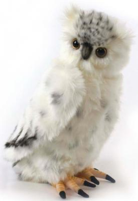 Мягкая игрушка сова Hansa Полярная сова искусственный мех синтепон серый 33 см 3836 сонная сова игрушка вязанная