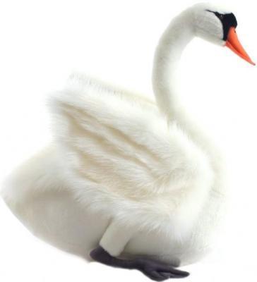 Мягкая игрушка лебедь Hansa Лебедь искусственный мех синтепон белый 27 см 4085 мягкие игрушки hansa лебедь черный 45 см