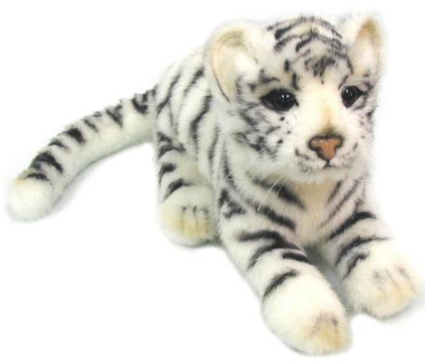 Мягкая игрушка тигр Hansa Детеныш белого тигра искусственный мех белый 26 см 4089 мягкая игрушка собака hansa собака породы бишон фризе искусственный мех белый 30 см 6317