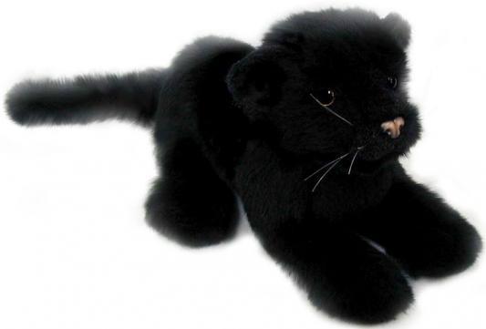 Мягкая игрушка пантера Hansa Детеныш черной пантеры искусственный мех синтепон пластик черный 26 см 4090