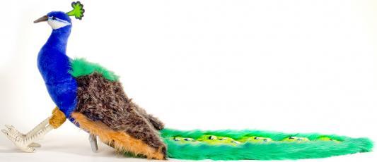 Мягкая игрушка павлин Hansa Павлин искусственный мех текстиль разноцветный 100 см 5437